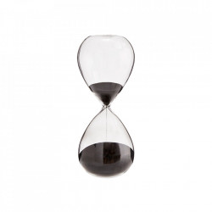Clepsidra transparenta/neagra din sticla 20 cm Black Hourglass Madam Stoltz