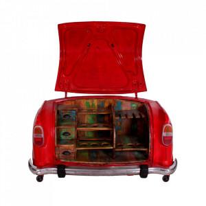 Comoda bar rosie din metal si lemn 168 cm Cindy Sit Moebel
