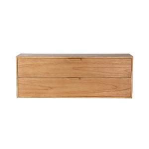 Comoda maro din placaj si lemn de sungkai 100 cm Carla C HK Living