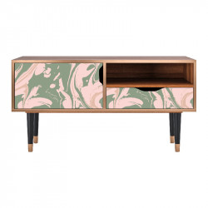 Comoda TV multicolora din MDF si lemn 114,2 cm Aquarelle Sara Furny