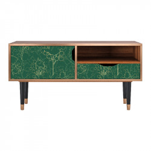 Comoda TV multicolora din MDF si lemn 114,2 cm Emerald Forest Sara Furny