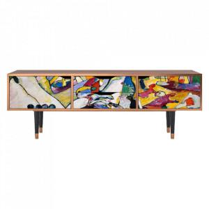 Comoda TV multicolora din MDF si lemn 170 cm Improvisation 26 By Wassily Kandinsky Eve Furny