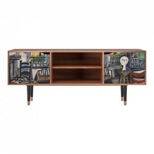 Comoda TV multicolora din MDF si lemn 170 cm The Studio By Pablo Picasso Lara Furny