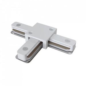 Conector electric alb din plastic cu 3 iesiri pentru sina Track Accesory White Three Maytoni