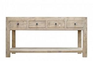 Consola din lemn cu sertare 170x45cm Pine Console Versmissen