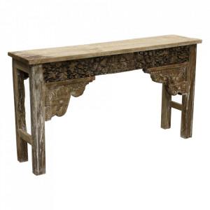 Consola maro din lemn 146 cm Nicko Raw Materials