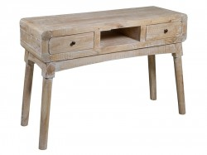 Consola maro din lemn mindi 120 cm Curvy Santiago Pons