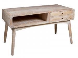 Consola maro din lemn mindi 140 cm Curvy Dual Santiago Pons