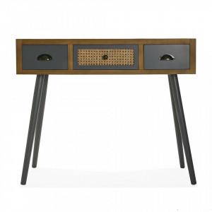 Consola maro/gri din lemn 90 cm Entry Table Versa Home