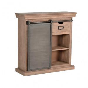 Consola maro/gri din lemn si metal 85 cm Niel Giner y Colomer