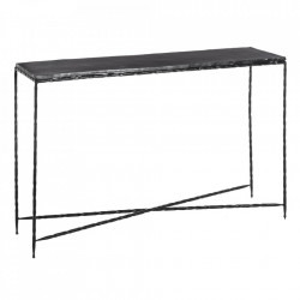 Consola neagra din aluminiu 146 cm Briod Ixia