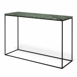 Consola verde din marmura si metal 120 cm Gleam Green TemaHome