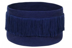 Cos albastru din bumbac Fringes Alaska Blue Lorena Canals
