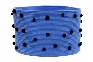Cos albastru safir din bumbac cm Pebbles Sapphire Lorena Canals