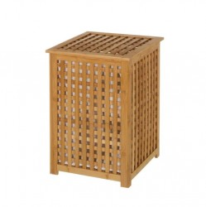 Cos cu capac de rufe din lemn de bambus 40x58 cm Bob Unimasa