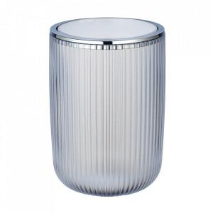 Cos de gunoi alb/argintiu din plastic 5,5 L Agropoli Wenko