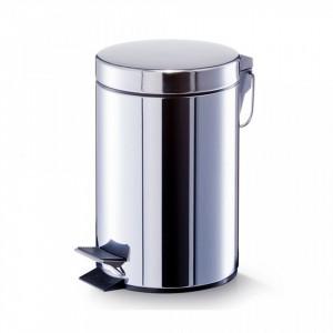 Cos de gunoi argintiu din inox 5 L Household Medium Zeller
