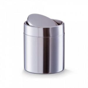 Cos de gunoi gri din inox 11,5x14 cm Table Trash Can Zeller