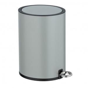 Cos de gunoi gri/negru din otel si plastic 3 L Monza Wenko