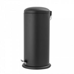 Cos de gunoi negru din metal 29,5x68 cm Irene Bloomingville