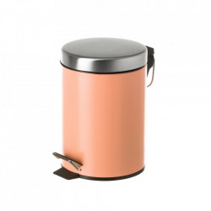 Cos de gunoi portocaliu/argintiu din metal 3 L Burna Unimasa