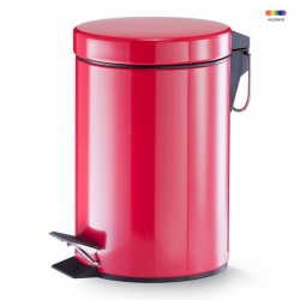 Cos de gunoi rosu din metal 3 L Pedal Bin Red Zeller