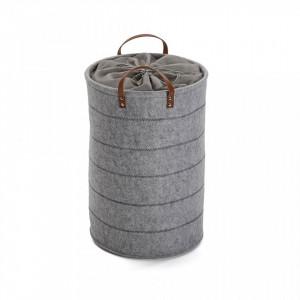 Cos de rufe gri din fetru 35x53 cm Light Laundry Versa Home