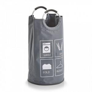 Cos de rufe gri din poliester si aluminiu 36x72 cm Laundry Collector Handles Zeller
