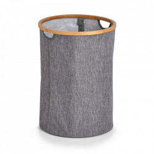 Cos de rufe gri/maro din textil si lemn 36x50 cm Sami Zeller