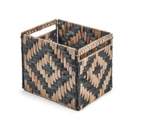 Cos maro/negru din rachita Rhombus La Forma