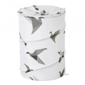 Cos rufe pliabil multicolor din poliester 69 L Origami Unimasa