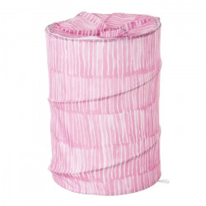 Cos rufe pliabil roz/alb din poliester 69 L Drip Unimasa