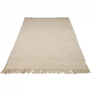 Covor alb din lana 170x240 cm Dalvik Bolia