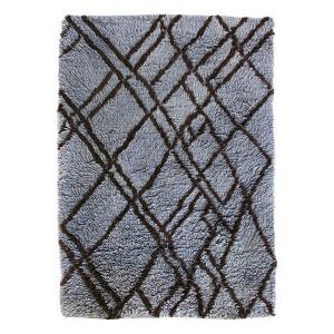 Covor albastru din lana 180x280 cm Berber Grey/Blue HK Living
