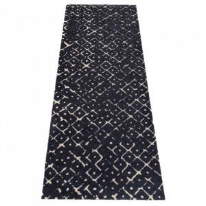 Covor albastru inchis din poliamide 67x180 cm Viva Carre Dark Blue Elle Decor