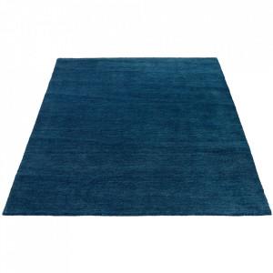 Covor albastru petrol din lana 200x300 cm Sherpa Bolia