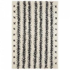 Covor crem/negru din polipropilena Soft Lines The Home (diverse dimensiuni)