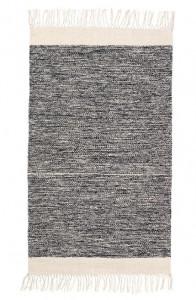 Covor din bumbac 60x100 cm Melange Black Ferm Living