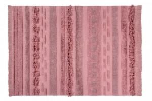 Covor dreptunghiular roz din bumbac 140x200 cm Air Canyon Rose Lorena Canals