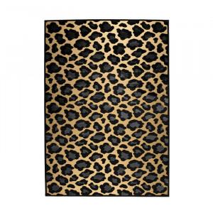 Covor galben/negru din viscoza si poliester 170x240 cm It's A Wild World Mama Panther Bold Monkey