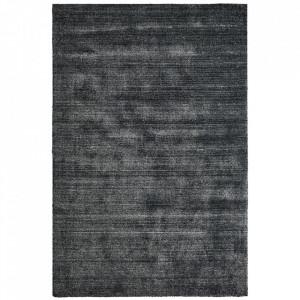 Covor gri antracit din lana si viscoza My Wellington Obsession (diverse dimensiuni)