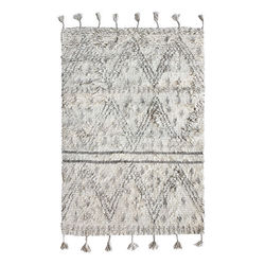 Covor gri din lana 120x180 cm Berber HK Living
