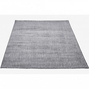Covor gri din lana 240x170 Pin Grey Bolia
