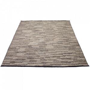 Covor gri din lana si viscoza 170x240 cm Braid Bolia