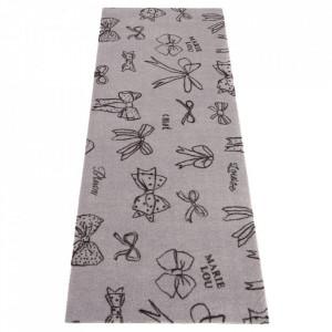 Covor gri din poliamide 67x170 cm Viva Ribbon Elle Decor