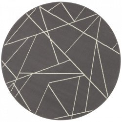 Covor gri din polipropilena 140 cm Geometric The Home
