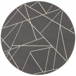 Covor gri din polipropilena 140 cm Geometric The Home