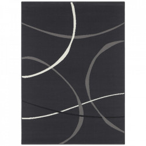 Covor gri din polipropilena Retro Dark Grey Design The Home (diverse dimensiuni)
