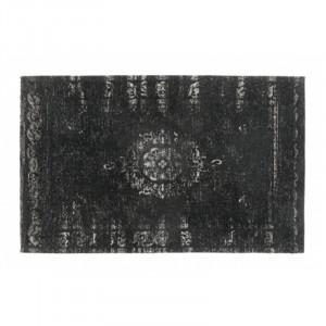 Covor gri inchis/negru din bumbac si poliester 60x90 cm Grand Nordal