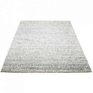 Covor gri ploaie din lana 140x200 cm Loop Bolia
